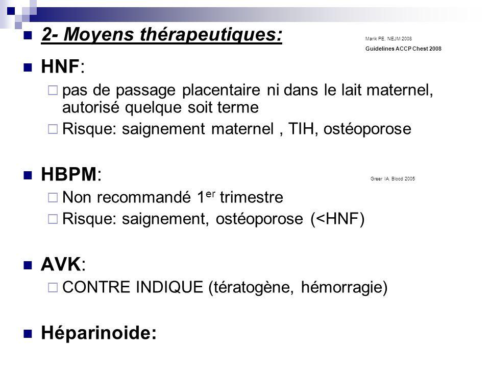 2- Moyens thérapeutiques: Marik PE, NEJM 2008 HNF: