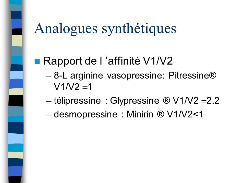 Analogues synthétiques
