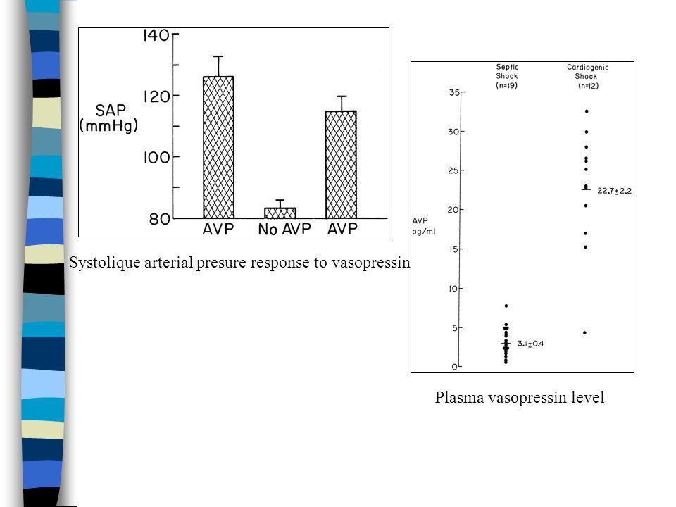 Systolique arterial presure response to vasopressin