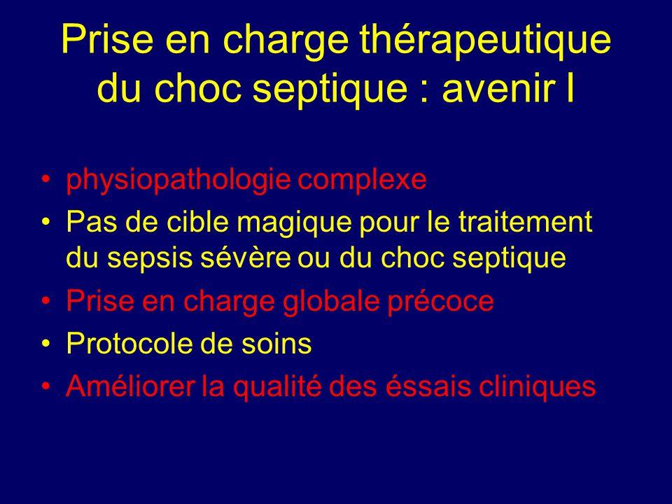 Prise en charge thérapeutique du choc septique : avenir I
