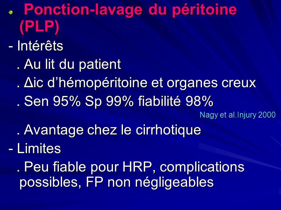 Ponction-lavage du péritoine (PLP)