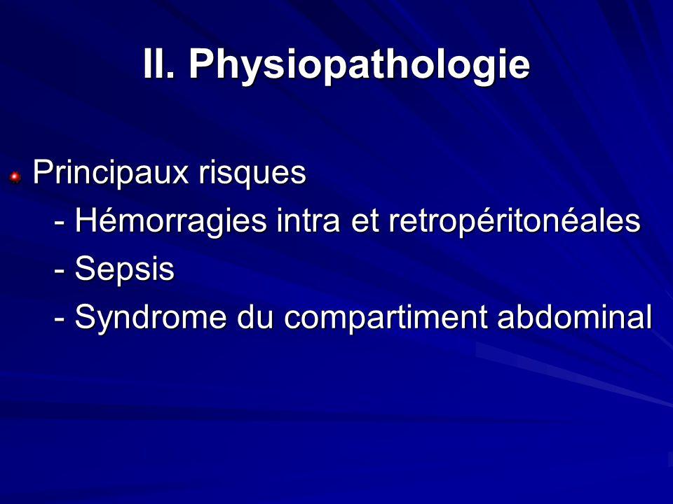 II. Physiopathologie Principaux risques