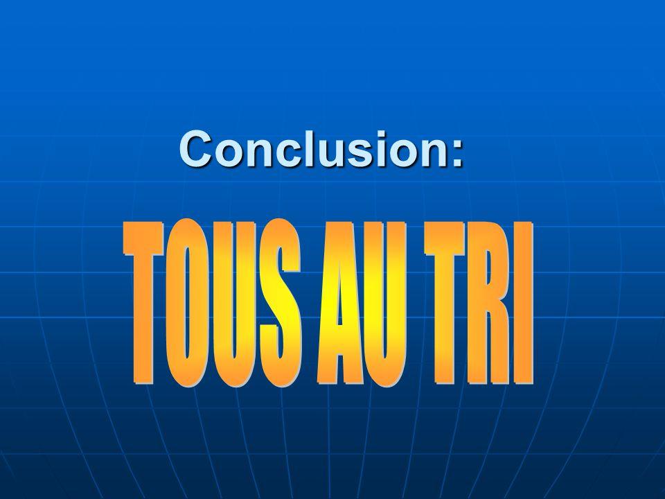 Conclusion: TOUS AU TRI