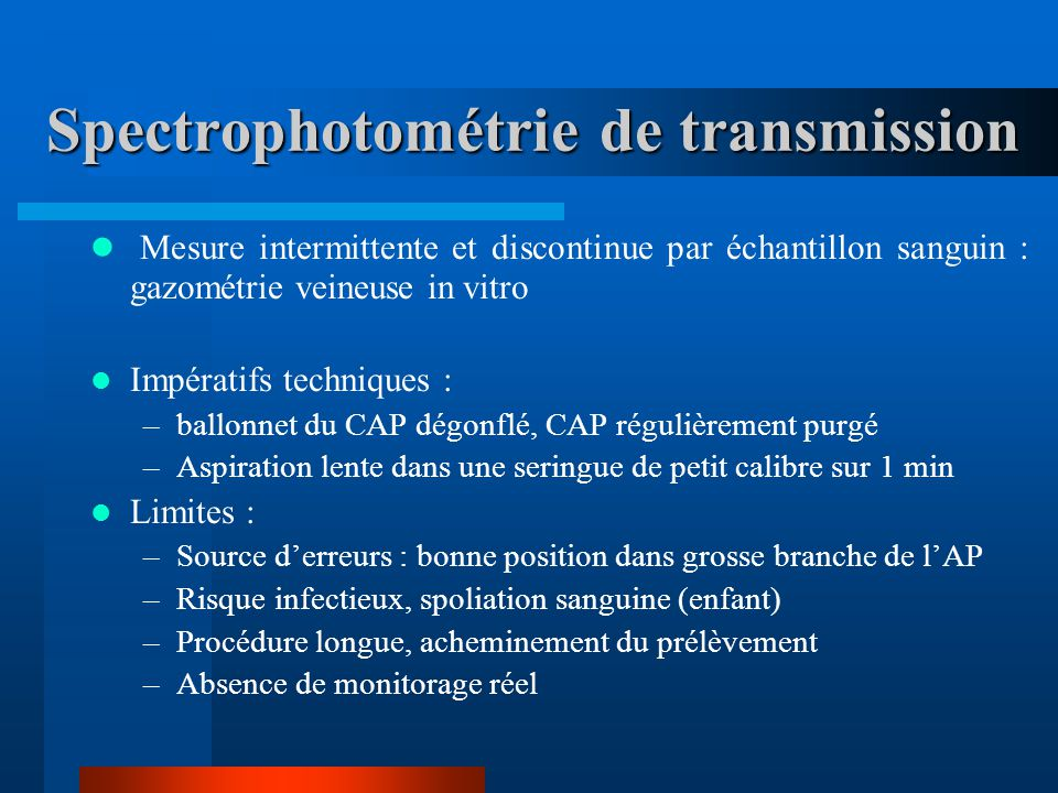 Spectrophotométrie de transmission