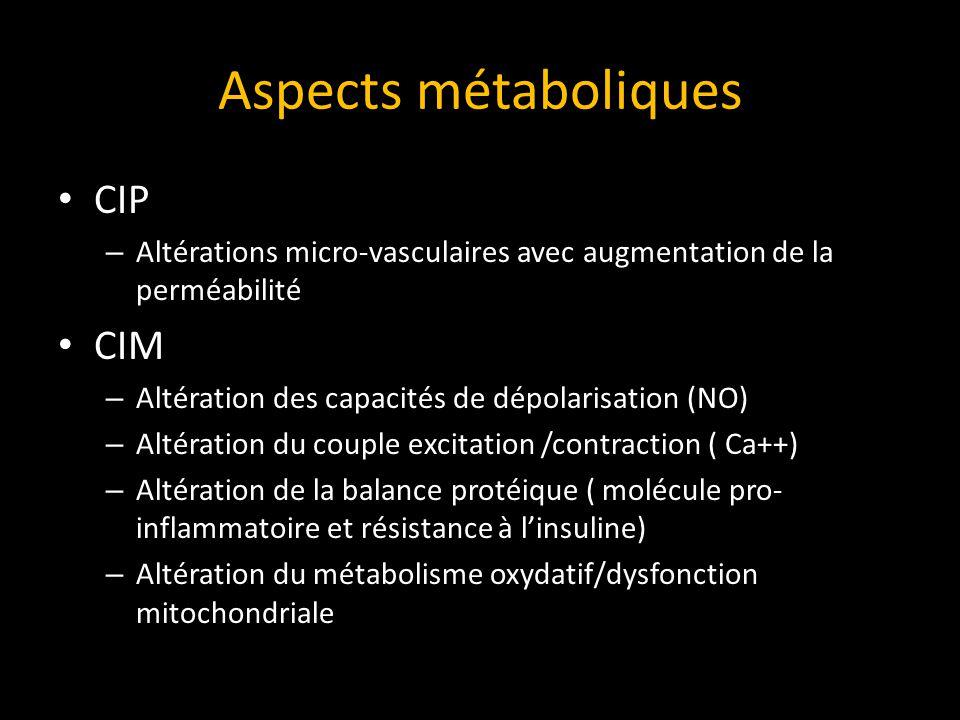Aspects métaboliques CIP CIM
