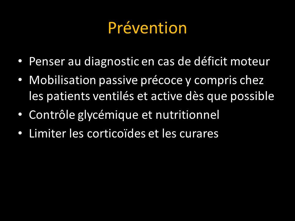 Prévention Penser au diagnostic en cas de déficit moteur