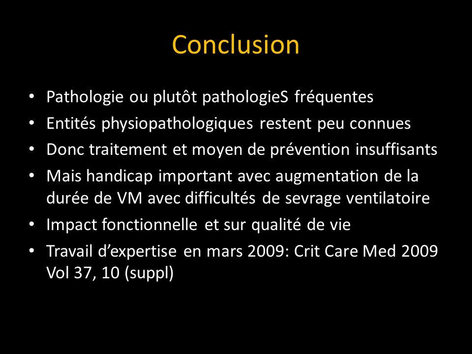 Conclusion Pathologie ou plutôt pathologieS fréquentes