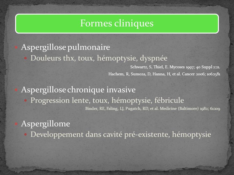 Formes cliniques Aspergillose pulmonaire