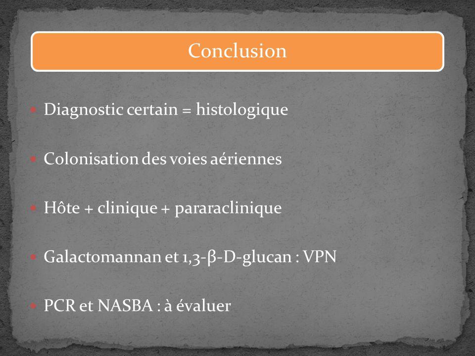 Conclusion Diagnostic certain = histologique