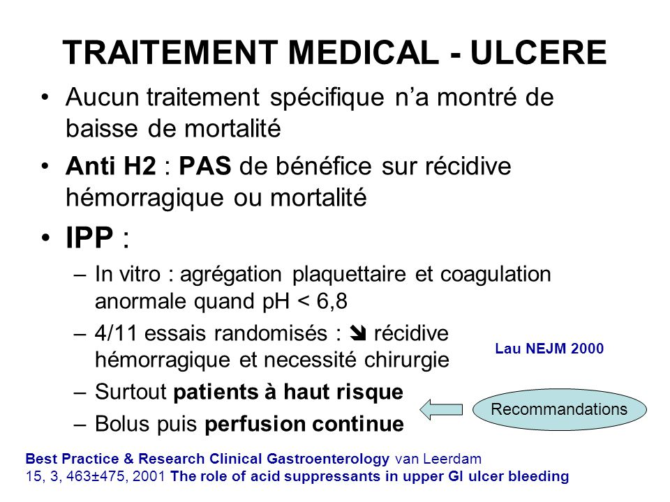 TRAITEMENT MEDICAL - ULCERE