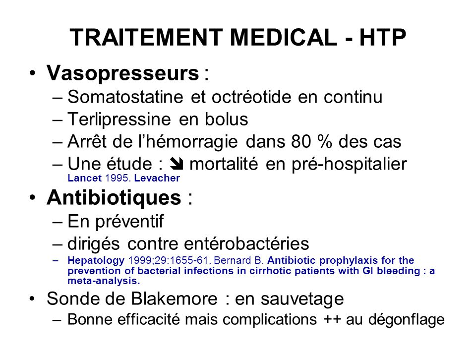 TRAITEMENT MEDICAL - HTP