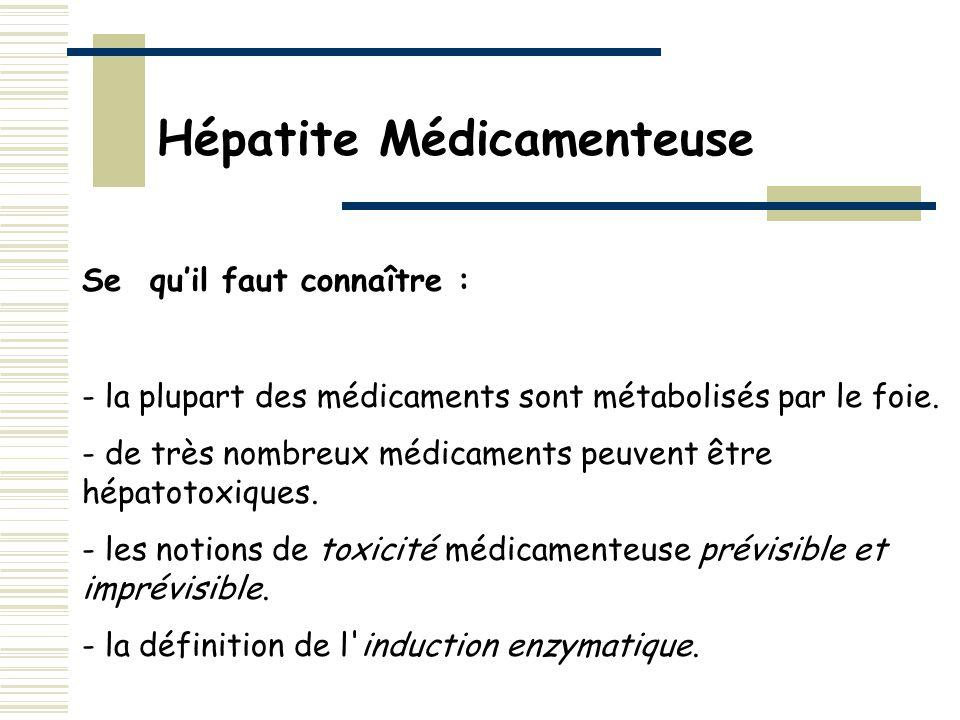 Hépatite Médicamenteuse