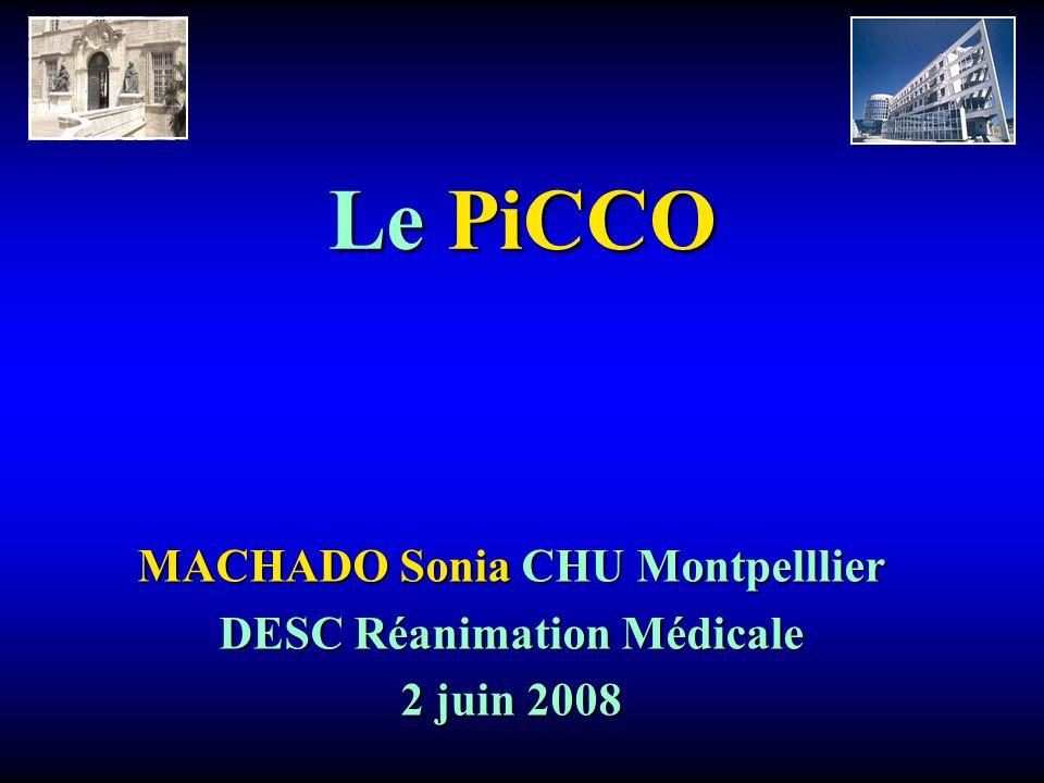 MACHADO Sonia CHU Montpelllier DESC Réanimation Médicale 2 juin 2008