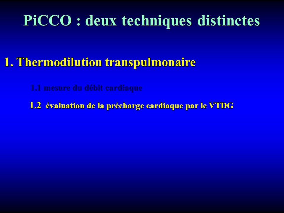 PiCCO : deux techniques distinctes
