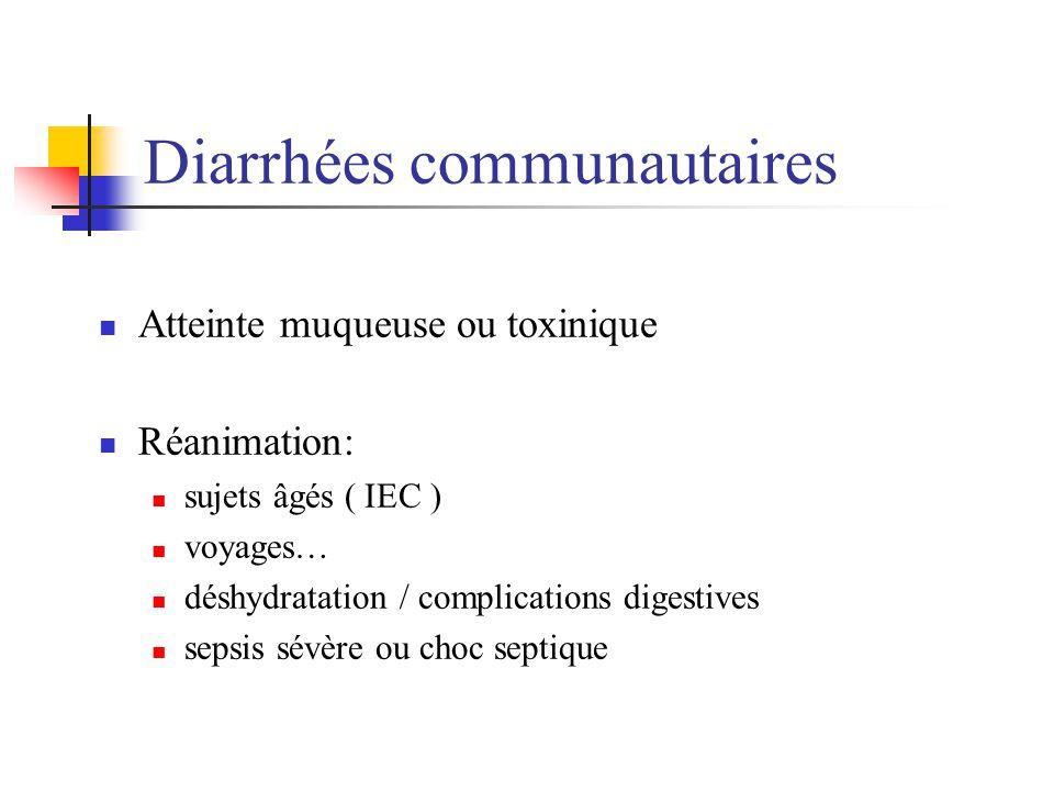 Diarrhées communautaires