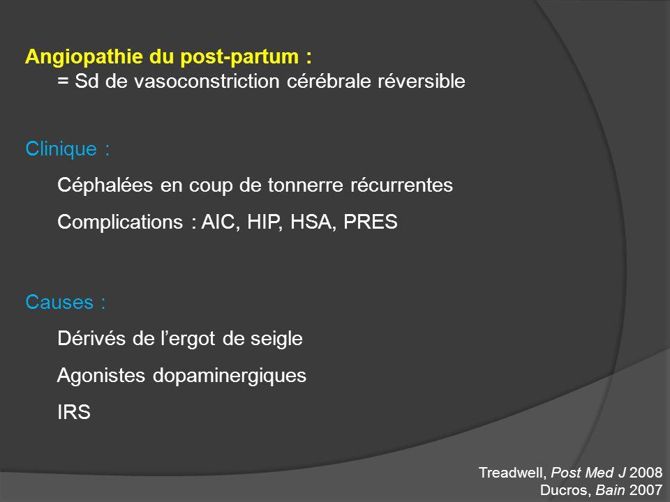 Angiopathie du post-partum :