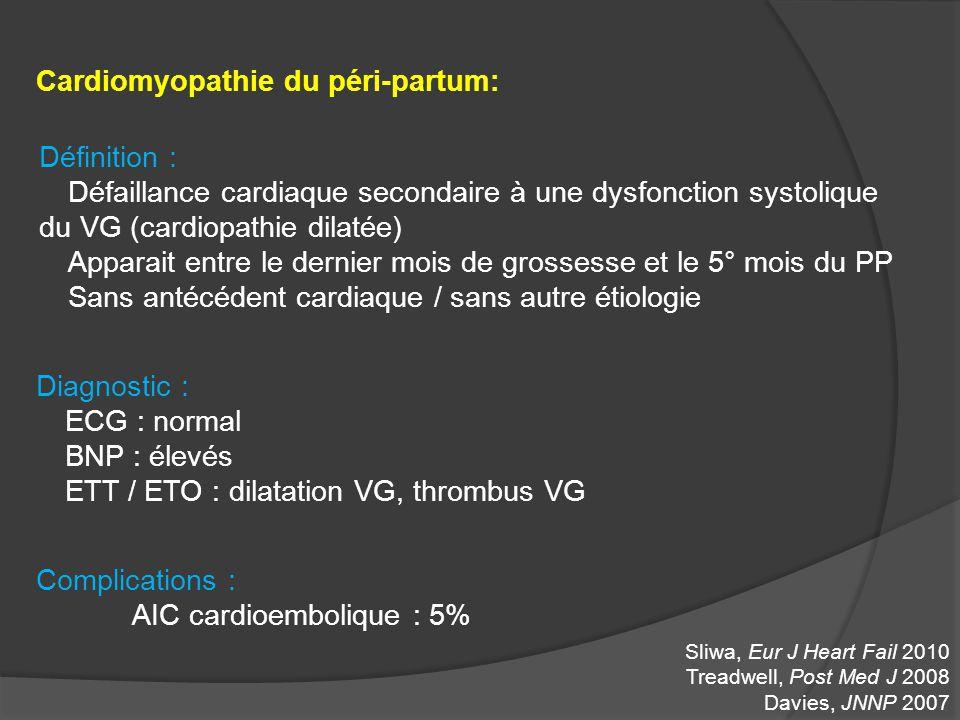Cardiomyopathie du péri-partum: