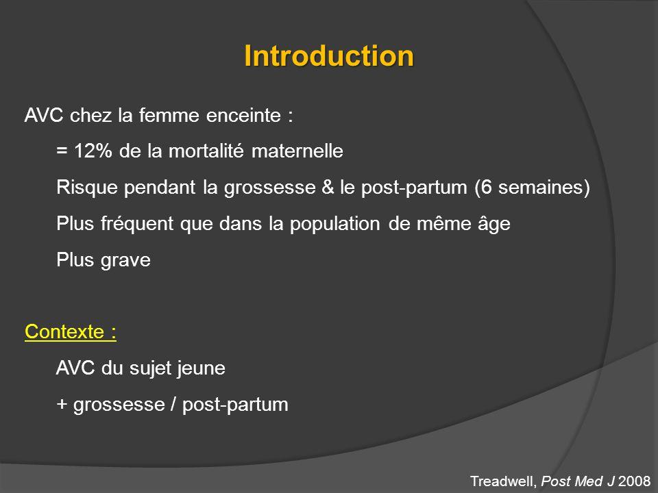 Introduction AVC chez la femme enceinte :