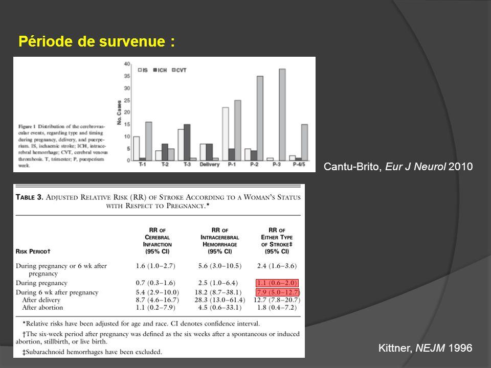 Période de survenue : Cantu-Brito, Eur J Neurol 2010