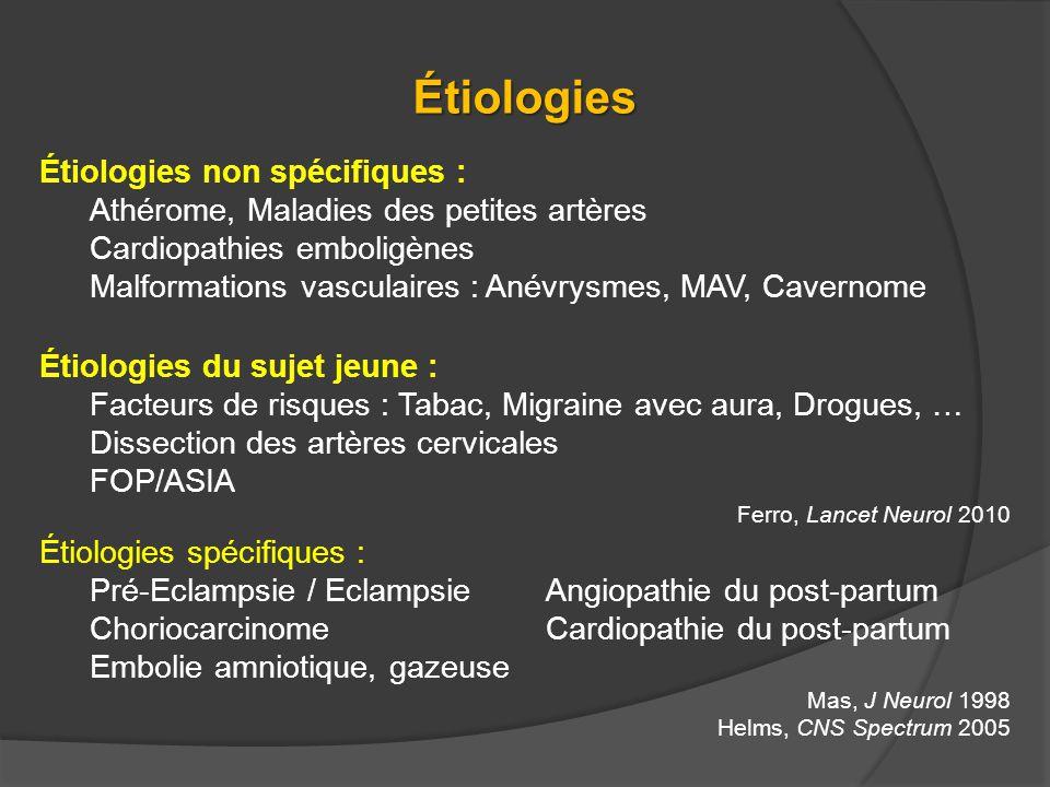 Étiologies Étiologies non spécifiques :