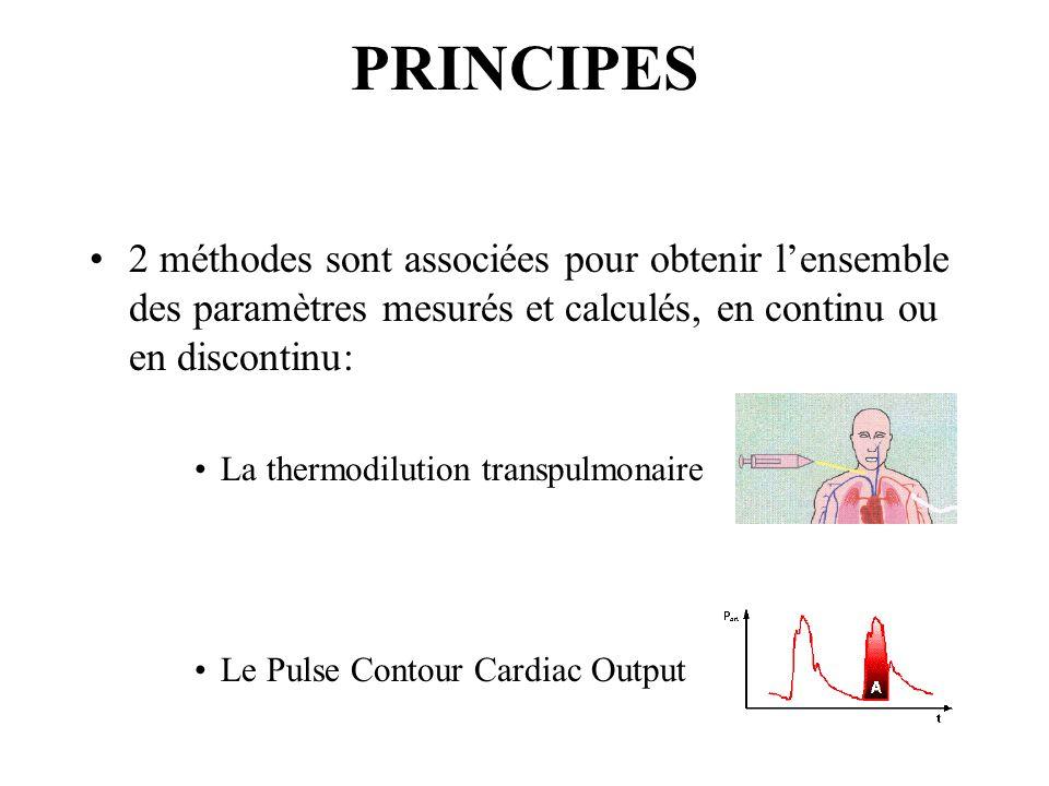PRINCIPES 2 méthodes sont associées pour obtenir l'ensemble des paramètres mesurés et calculés, en continu ou en discontinu: