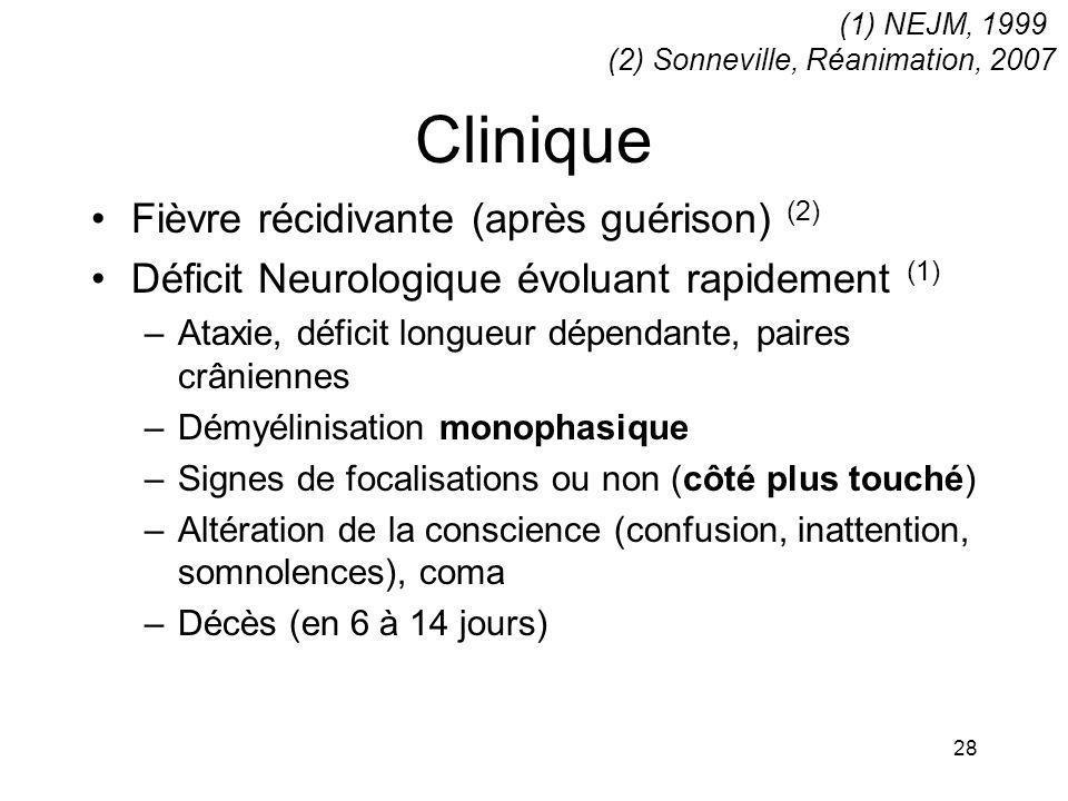 Clinique Fièvre récidivante (après guérison) (2)