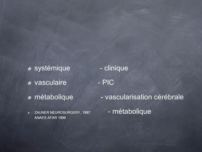 métabolique - vascularisation cérébrale