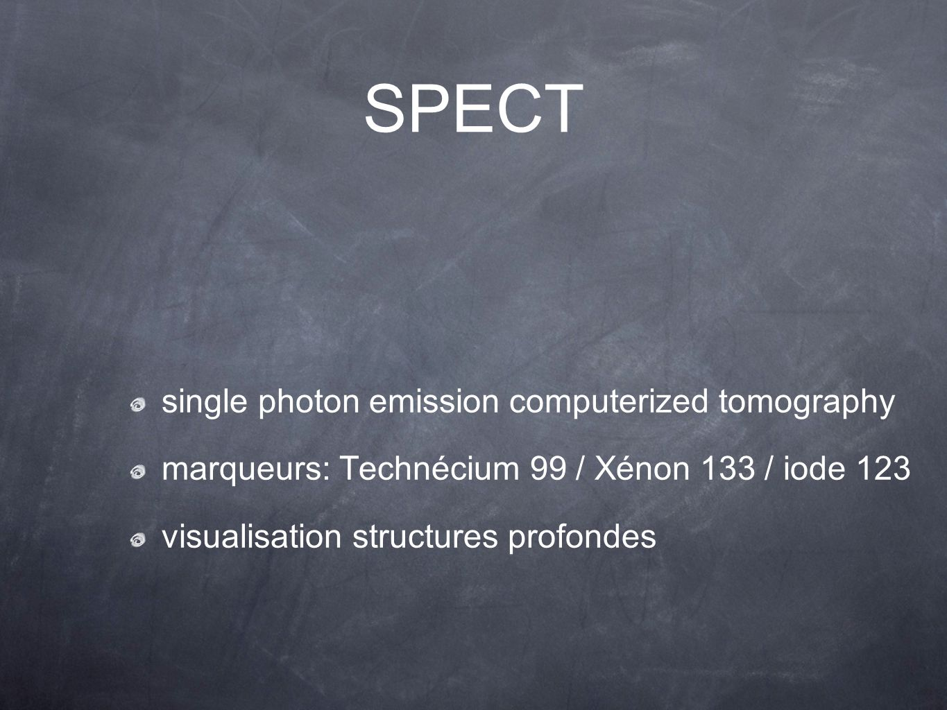 SPECT single photon emission computerized tomography