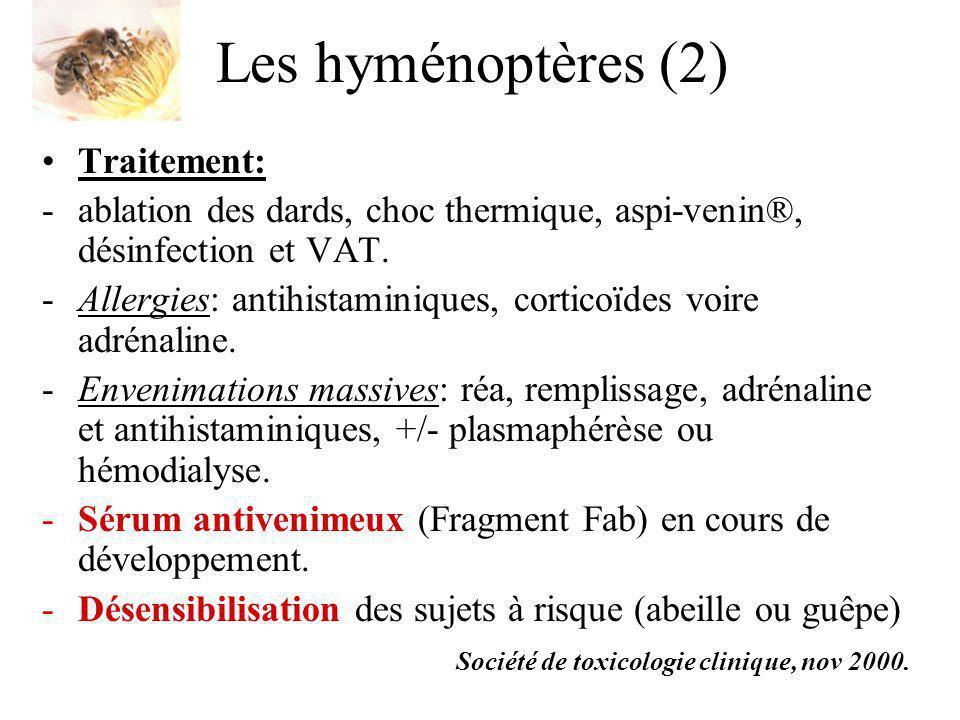 Les hyménoptères (2) Traitement: