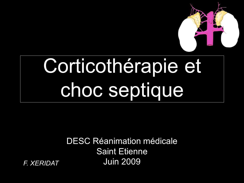 Corticothérapie et choc septique