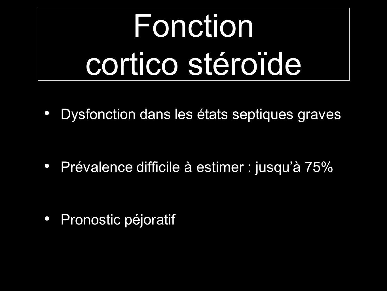 Fonction cortico stéroïde