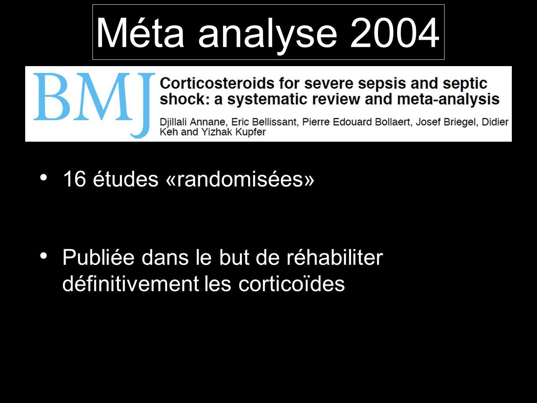 Méta analyse 2004 16 études «randomisées»