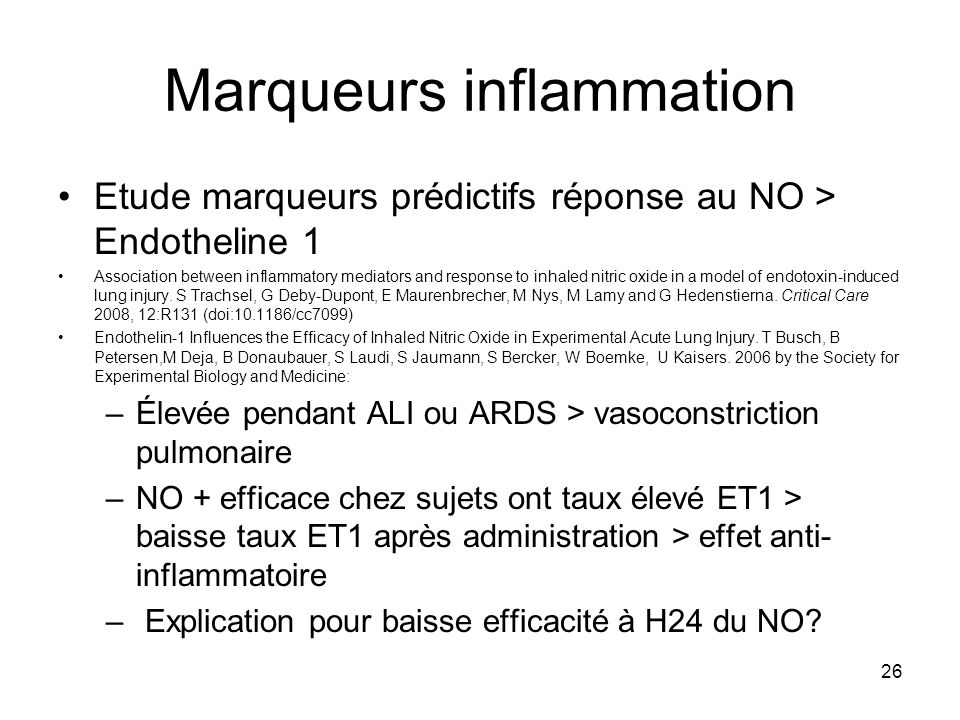Marqueurs inflammation