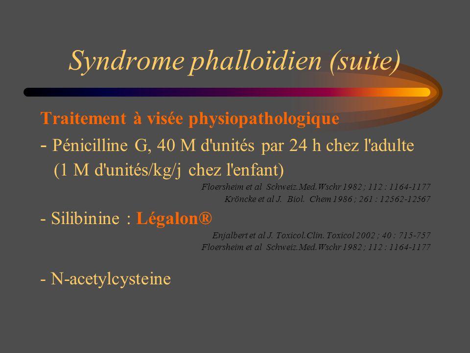 Syndrome phalloïdien (suite)