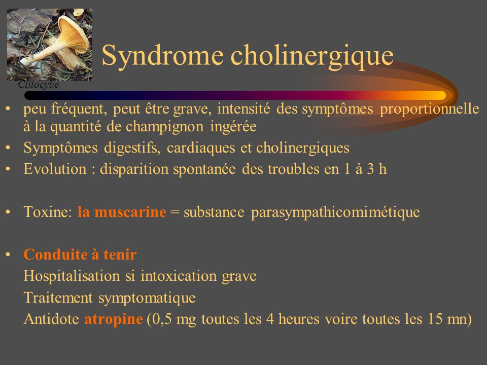 Syndrome cholinergique