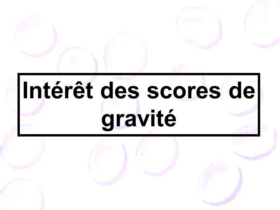Intérêt des scores de gravité