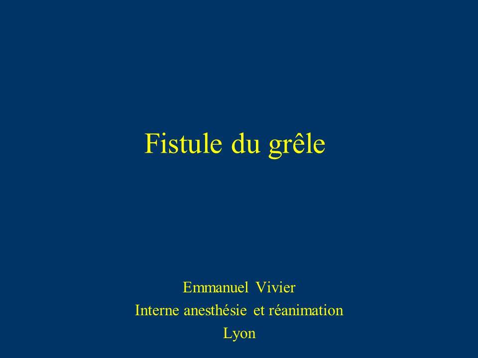 Emmanuel Vivier Interne anesthésie et réanimation Lyon