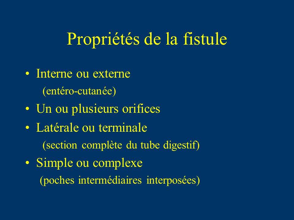 Propriétés de la fistule