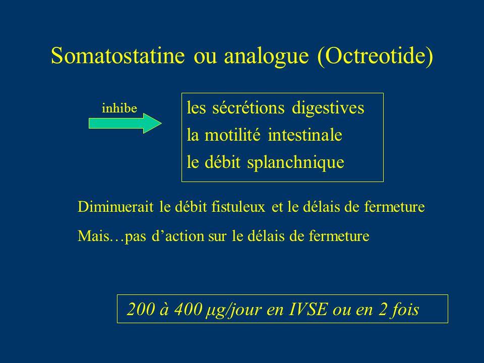 Somatostatine ou analogue (Octreotide)