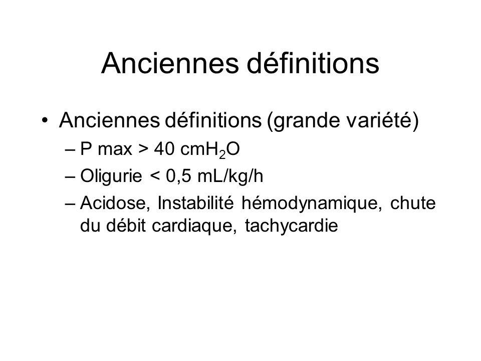 Anciennes définitions