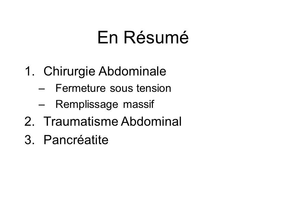 En Résumé Chirurgie Abdominale Traumatisme Abdominal Pancréatite