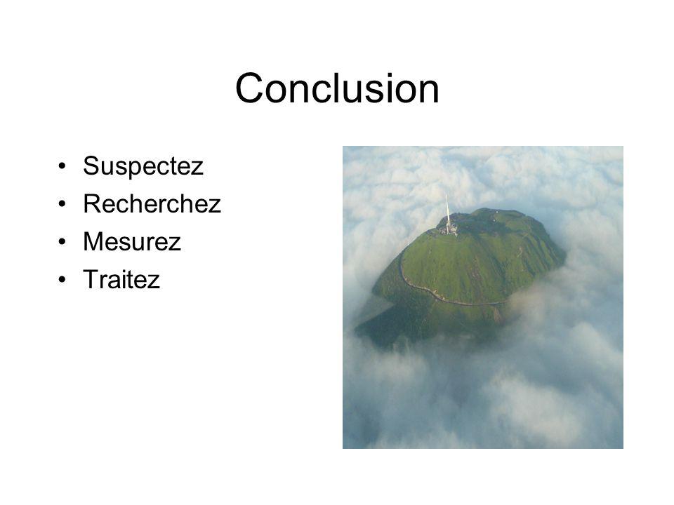 Conclusion Suspectez Recherchez Mesurez Traitez