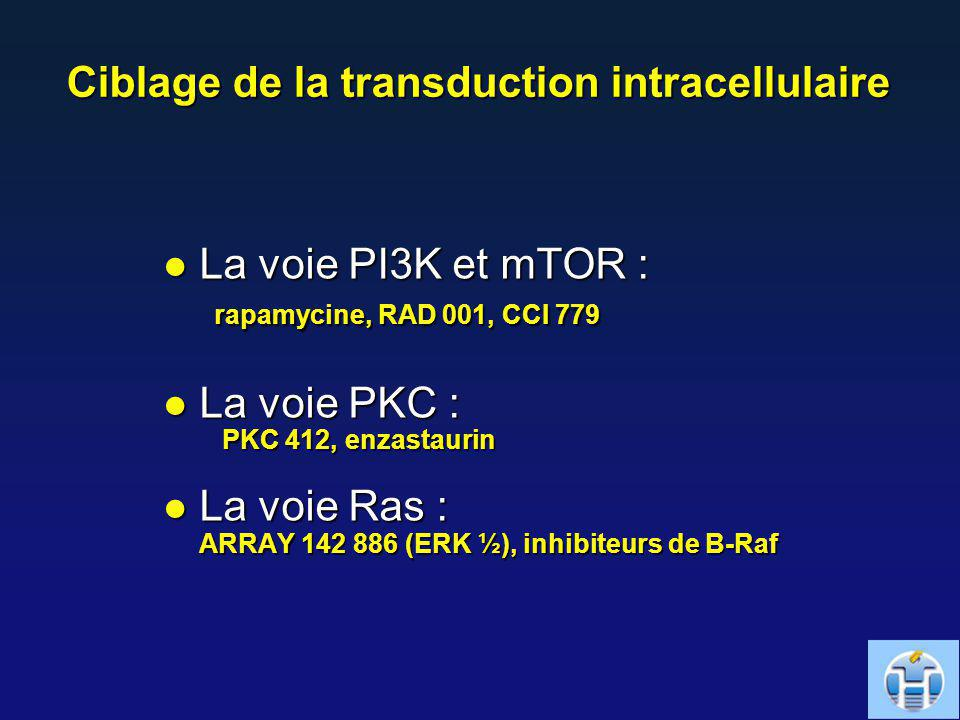 Ciblage de la transduction intracellulaire