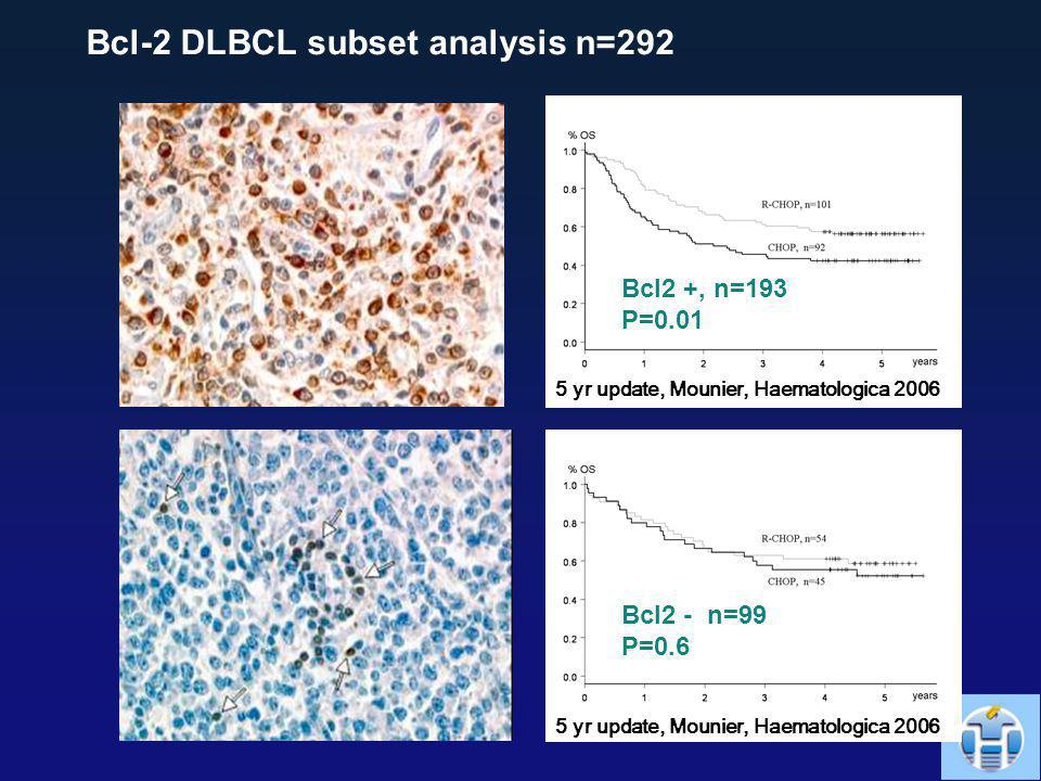 Bcl-2 DLBCL subset analysis n=292