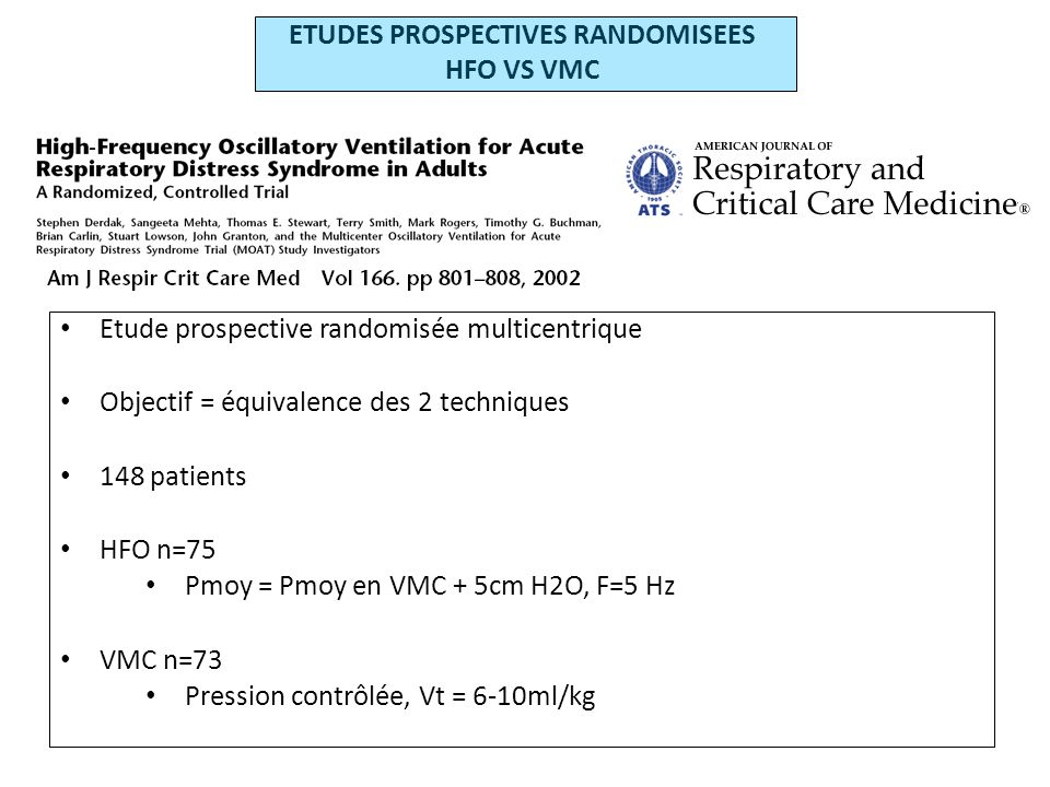 ETUDES PROSPECTIVES RANDOMISEES