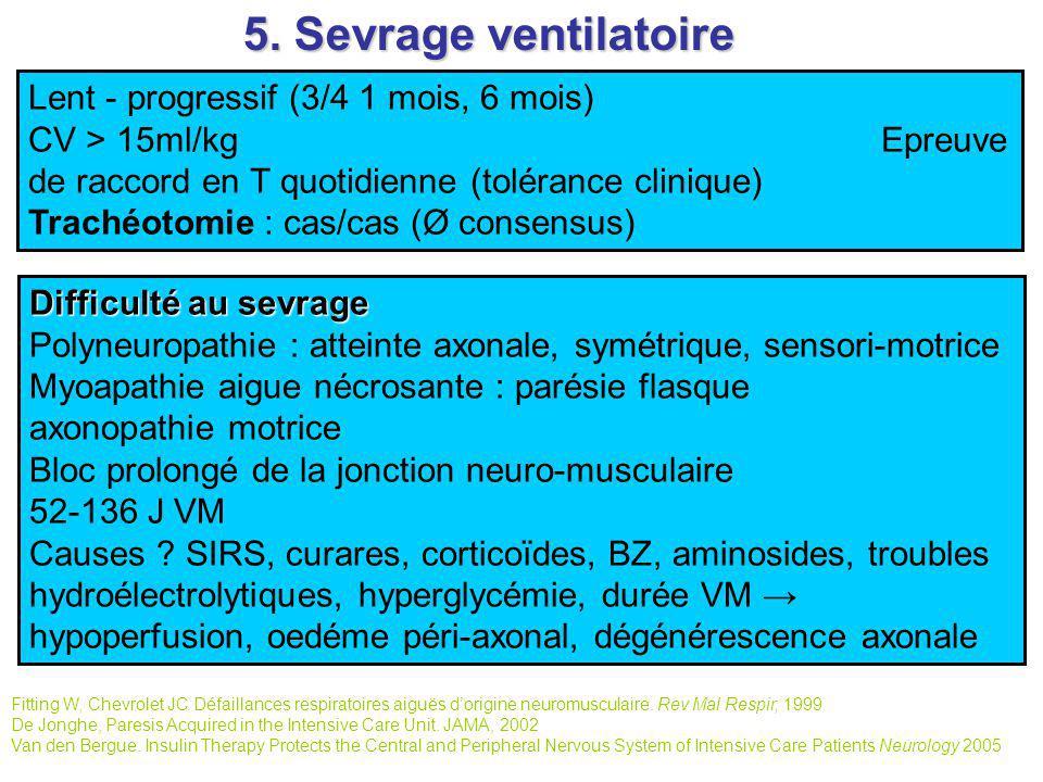 5. Sevrage ventilatoire