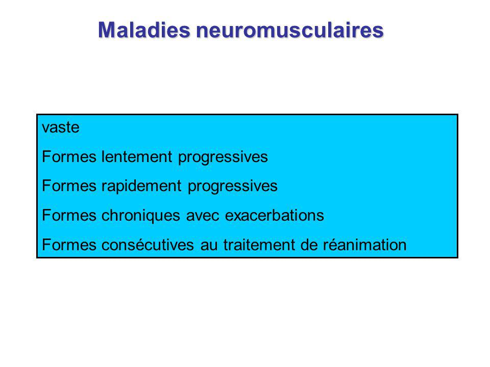 Maladies neuromusculaires