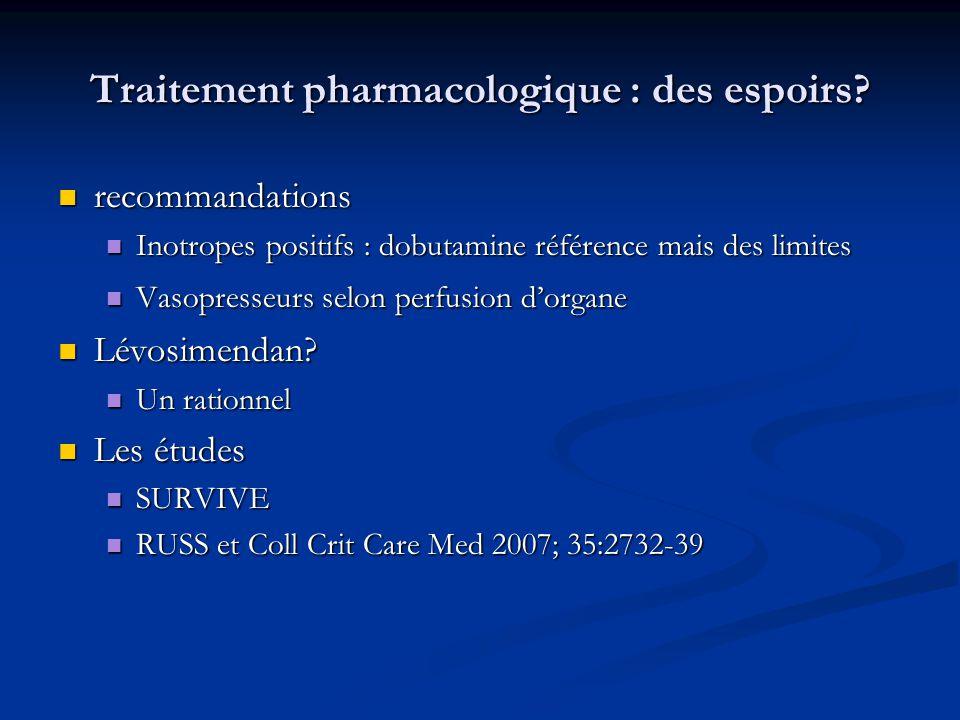 Traitement pharmacologique : des espoirs