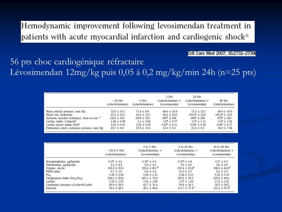 56 pts choc cardiogénique réfractaire