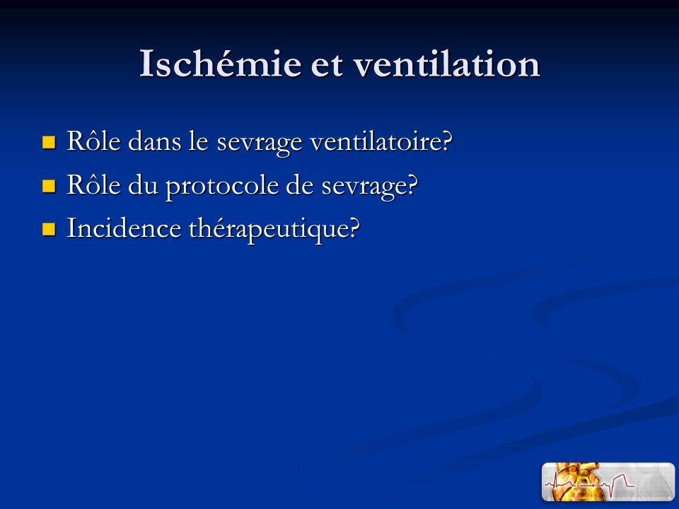 Ischémie et ventilation